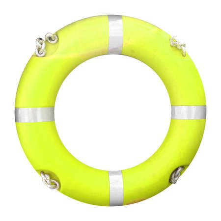 Life buoy isolated over a white background photo