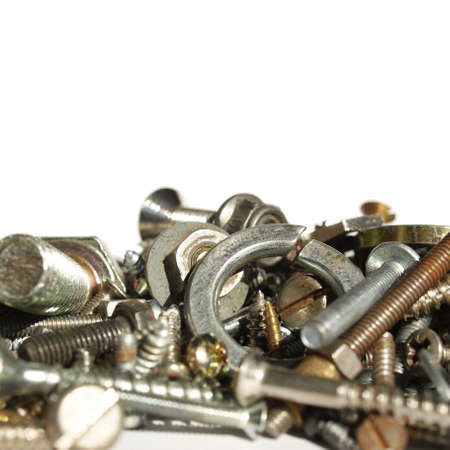 Industrial steel hardware bolts, nuts, screws Stock Photo - 4535536