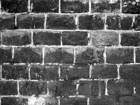 Old brick wall in abandoned factory photo
