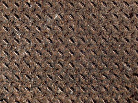 Rusted diamond steel plate useful as a background Stock Photo - 4592911
