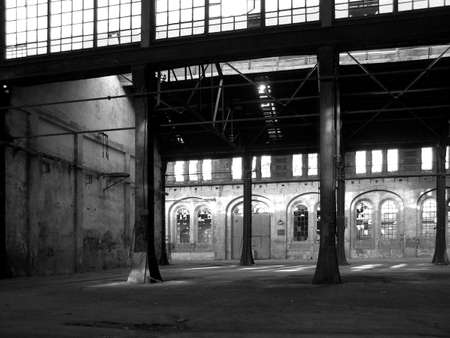 Abandoned factory industrial archeology architecture Stock Photo - 4635162