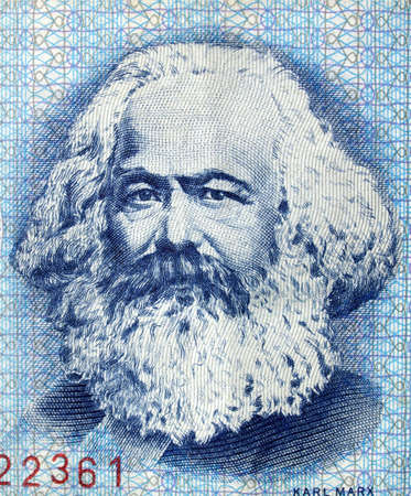 karl: Portrait of Karl Marx on an East German banknote - money no more in use since the reunification of germany in 1991