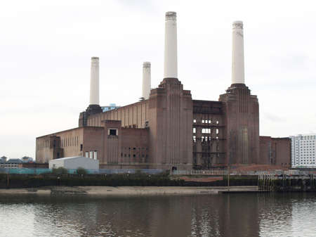 London Battersea powerstation, a landmark abandoned factory photo