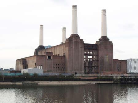 abandoned factory: London Battersea powerstation, a landmark abandoned factory Stock Photo