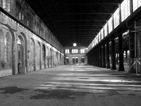 archeology: Abandoned factory industrial archeology architecture Stock Photo