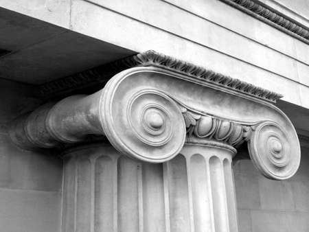 floreal: Detail of a Greek Ionic column capital Stock Photo