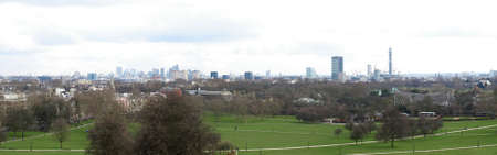 Panoramic view of London skyline seen from Primrose Hill photo