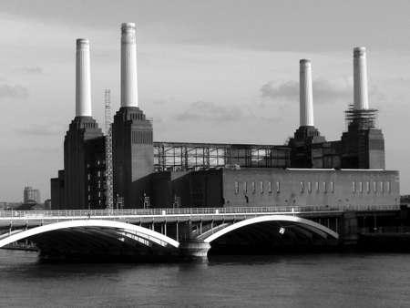 abandoned factory: London Battersea powerstation abandoned factory