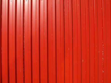 Red corrugated steel useful as a background Stock Photo