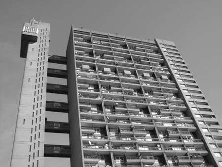 maisonette: Trellick Tower in London iconic sixties new brutalism architecture
