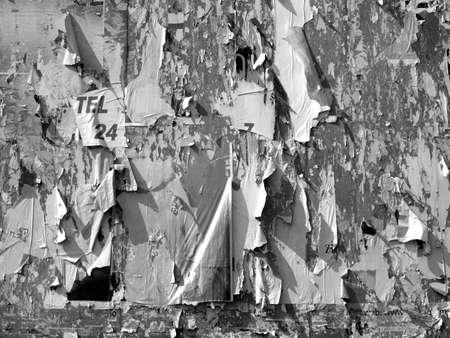 hoarding: Hoarding billboard decollage background