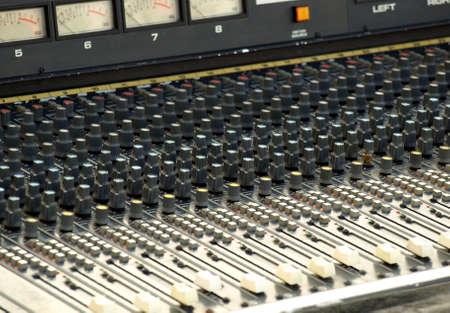 soundboard: Detail of a soundboard mixer electronic device