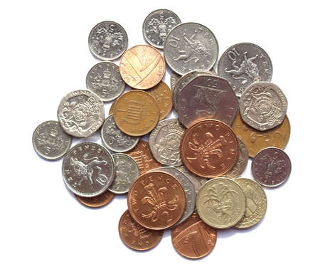 pound coins: Range of British Pound coins (UK currency)