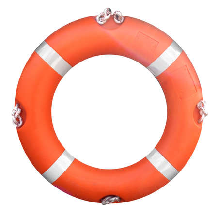Life buoy isolated over a white background Stock Photo - 4764037
