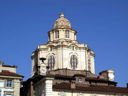 Baroque church of San Lorenzo in Turin (Torino) photo