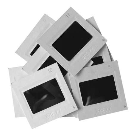 umschwung: Schieben Sie die Umkehrung positive Film Tranparency over white