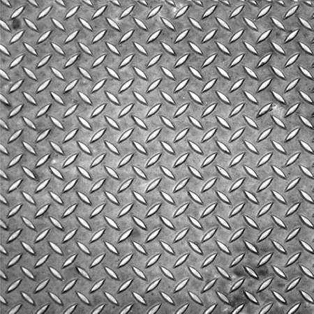 Diamond steel plate useful as a background Stock Photo
