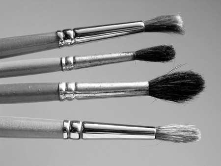 tempera: Paintbrushes tools for oil or tempera or watercolor painting