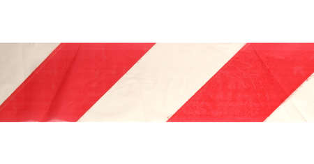 trespass: Threshold line tape - do not trespass sign Stock Photo