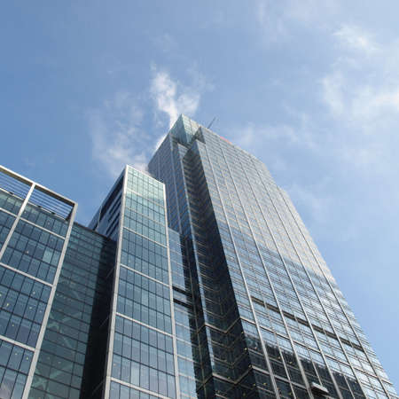 Modern highrise skyscraper steel and glass architecture Stock Photo - 4903215