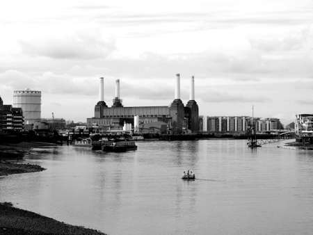 London Battersea powerstation, a landmark abandoned factory Stock Photo - 4903325