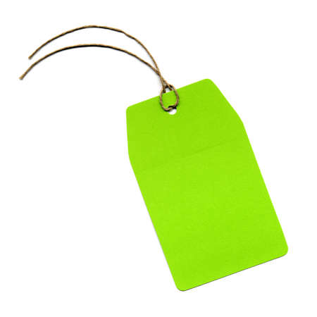 paper tags: Price tag or address label with string