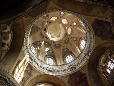 Dome of the baroque church of San Lorenzo in Turin (Torino)