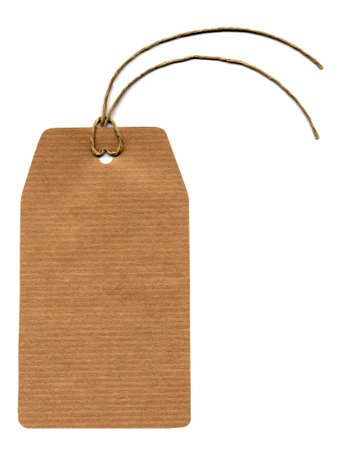 docket: Price tag or address label with string
