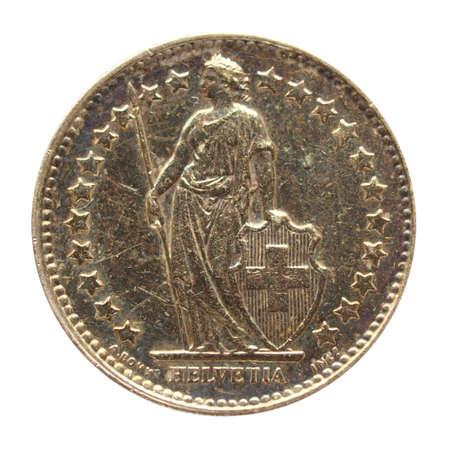 frank szwajcarski: Zamknij się z rocznika frank szwajcarski monety
