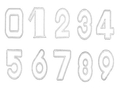 decimal: Rubber stamps of decimal number