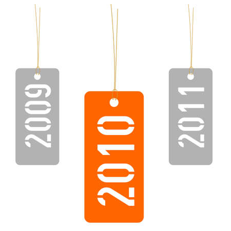 Tags with years 2009 2010 2011 Stock Photo - 4968621
