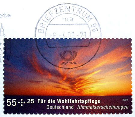 German stamp from Germany with postage meter photo