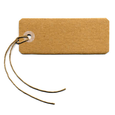 blank tag: Price tag or address label with string