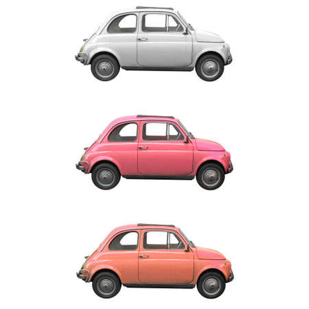 sixties: Vintage Fiat 500 Italian car from the sixties