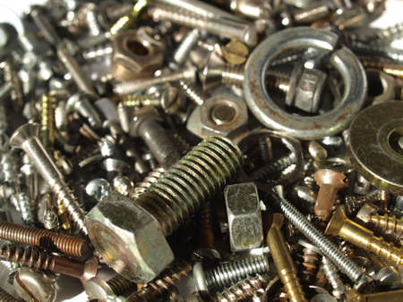 Industrial steel hardware bolts, nuts, screws Stock Photo - 5039396