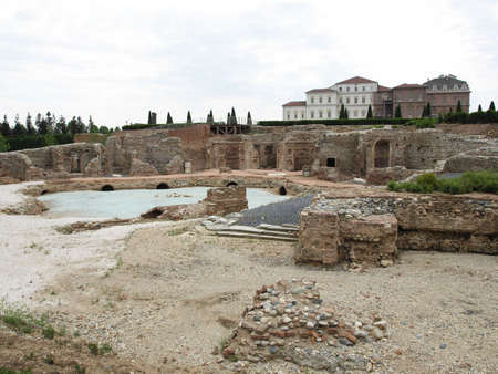 reale: Ruins of the Fountain of Hercules at Reggia di Venaria Reale (Royal Palace) near Turin, Italy