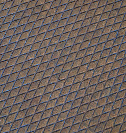 Rusted diamond steel plate useful as a background Stock Photo - 5109233