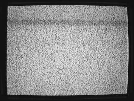flickering: Ruido de fondo de la pantalla del televisor parpadea desafinadas Foto de archivo