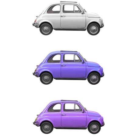 fiat: Vintage Fiat 500 Italian car from the sixties