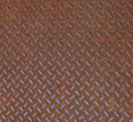 corten: Rusted diamond steel plate useful as a background