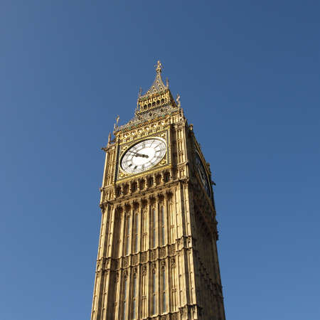 Big Ben at the Houses of Parliament, Westminster Palace, London, UK photo