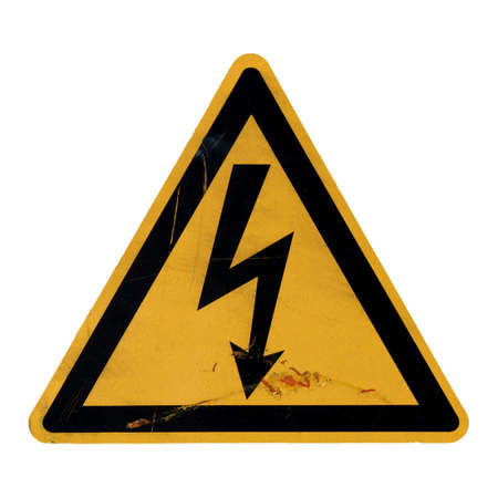 Signal of danger of death by electrocution following an electric shock photo