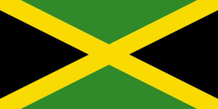 greater: Flag of Jamaica - island nation of the Greater Antilles