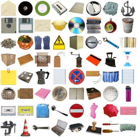 Muchos objetos aislados en un fondo blanco (todas las fotos en el collage son m�as) Foto de archivo - 5449191