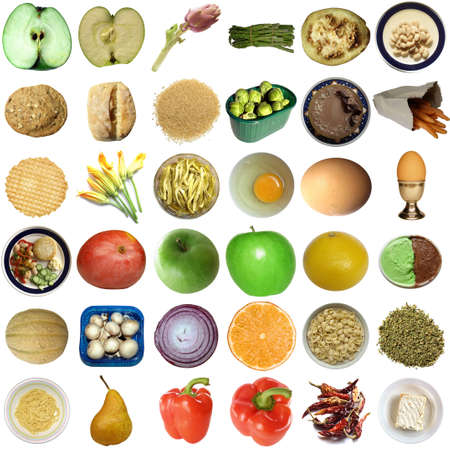 Collage of food isolated over white background Stock Photo - 5492006
