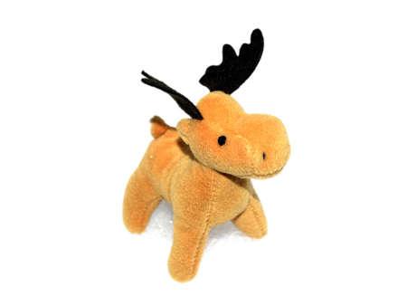 highkey: High key picture of Christmas moose deer in snow