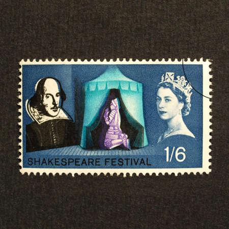 UK 1964 - Shakespeare Festival Stamp, United Kingdom, 1964 Stock Photo - 5567336