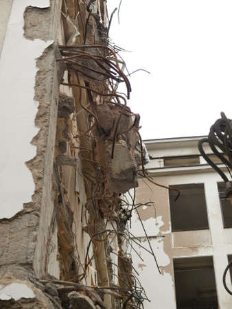 bombing: House debris following blast bombing and demolition Stock Photo
