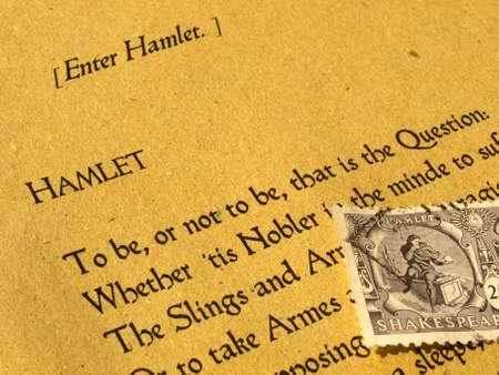 Hamlet de William Shakespeare (original Orient texte anglais de la Premier Folio de 1623) avec timbre - mise au point sélective Banque d'images - 5600428
