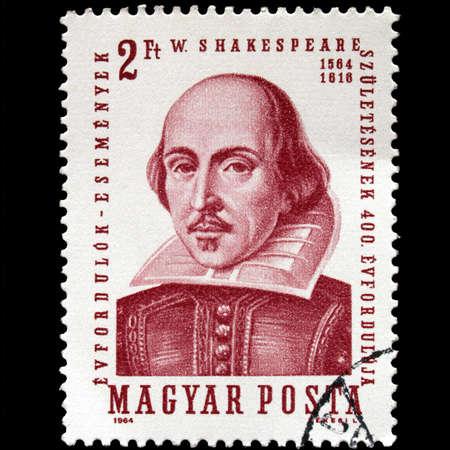 HUNGARY CIRCA 1964 - Shakespeare Stamp, Hungary, Circa 1964 Stock Photo - 5600304